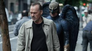 "Oscar nominee Michael Keaton plays has-been superstar Riggan Thomson, stalked by his subconscious in ""Birdman."""